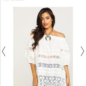 Free People Sounds of Summer Ivory Tunic S NWT